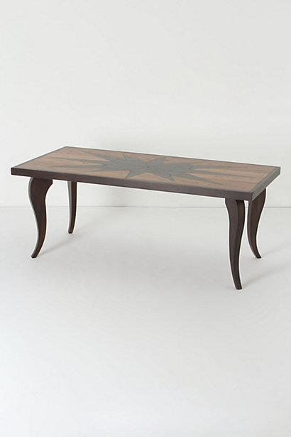 Bernhardt Vivian Black Inlay Dining Table And Nessy Clear