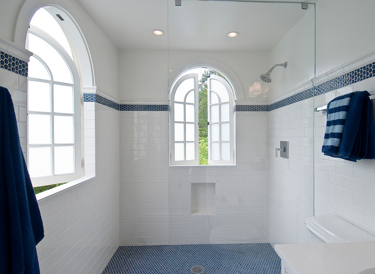 Subway Tile Shower Design Cottage Bathroom Tamara