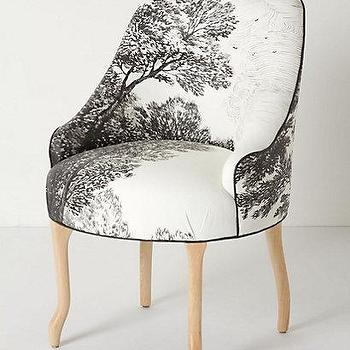 Handpainted Toile Pull-Up Chair, Anthropologie.com