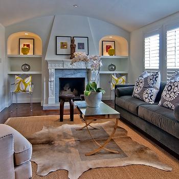 Fireplace Alcoves, Contemporary, living room, Tamara Mack Design
