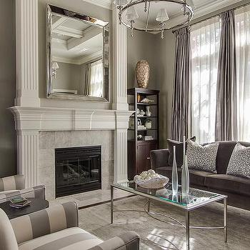 Gray Living Room, Transitional, living room, EJ Interiors