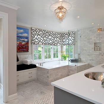 Gray Bathroom, Contemporary, bathroom, Tamara Mack Design
