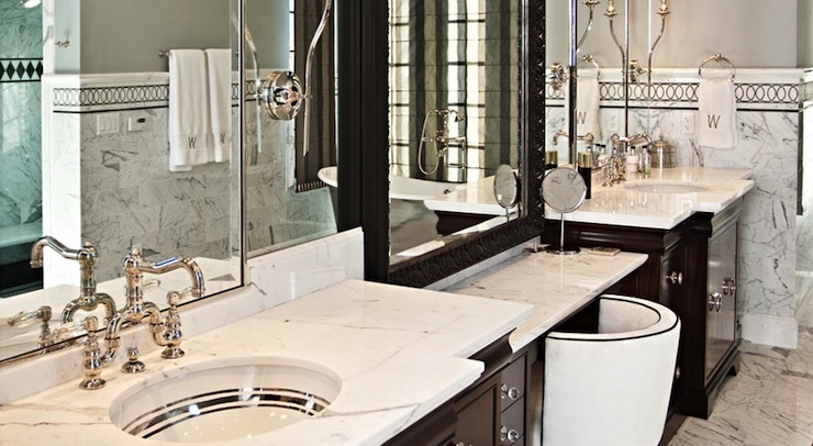 His And Her Vanities Transitional Bathroom Elizabeth