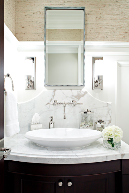 Marble Top Bathroom Vanity Contemporary Bathroom