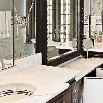 His and Her Vanities, Transitional, bathroom, Elizabeth Kimberly Design