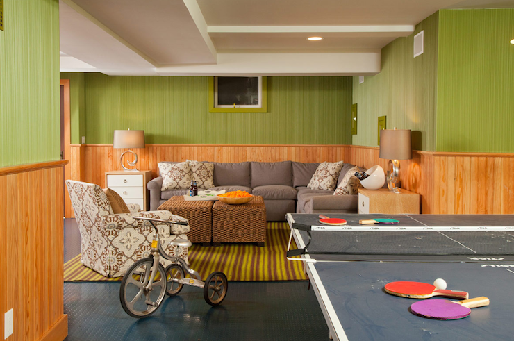 Retro basement vintage basement amanda nisbet design for Retro basement ideas
