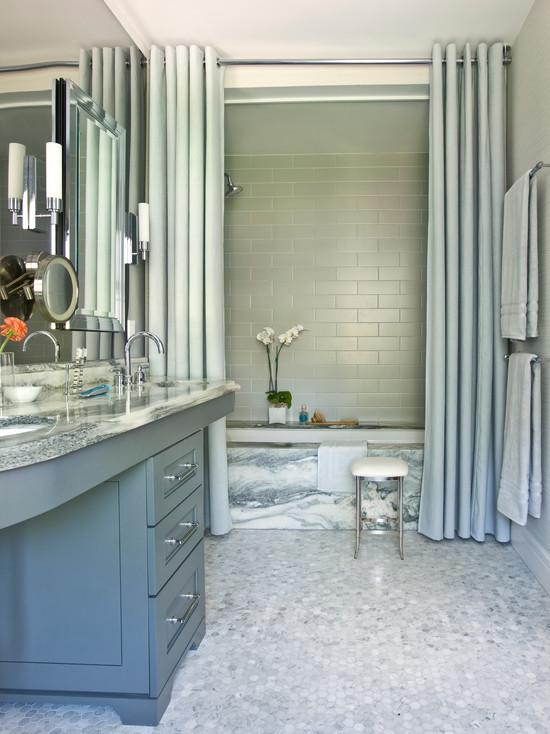 Gray Bathroom - Contemporary - bathroom - Mark Williams Design