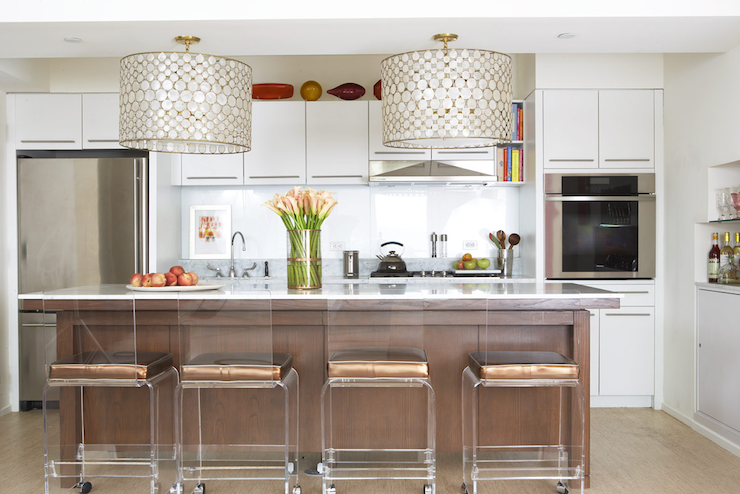 Lucite Counter Stools Design Ideas