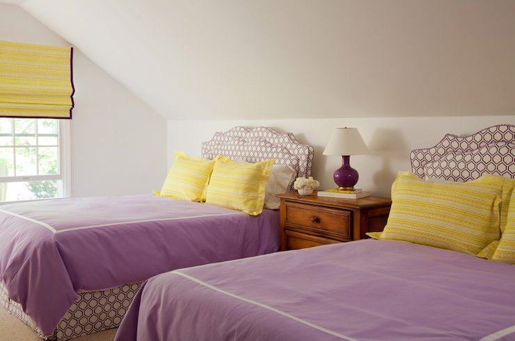 Lovely Purple And Yellow Girlsu0027 Bedroom