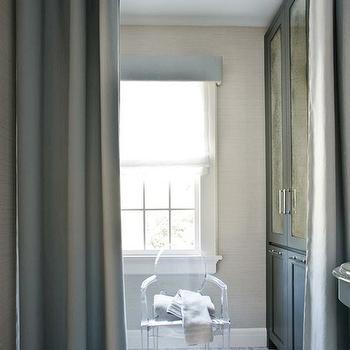Antiqued Mirrored Bathroom Cabinets, Contemporary, bathroom, Mark Williams Design