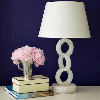 Alabaster Lamp, Contemporary, den/library/office, Amanda Nisbet Design