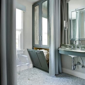 Hidden Hampers, Contemporary, bathroom, Mark Williams Design