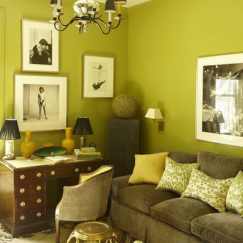 Chartreuse Walls Design Ideas