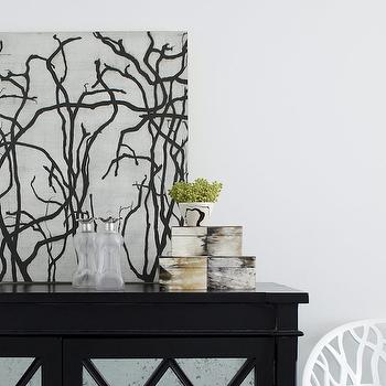 Mirrored Cabinet, Transitional, entrance/foyer, Amanda Nisbet Design