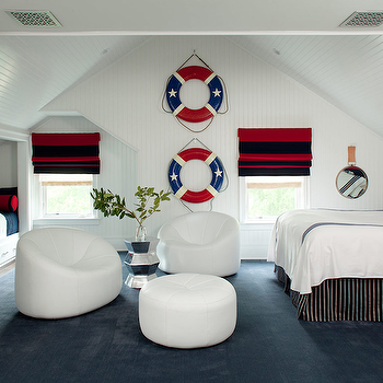 Nautical Theme Boys' Bedroom, Cottage, boy's room, Amanda Nisbet Design