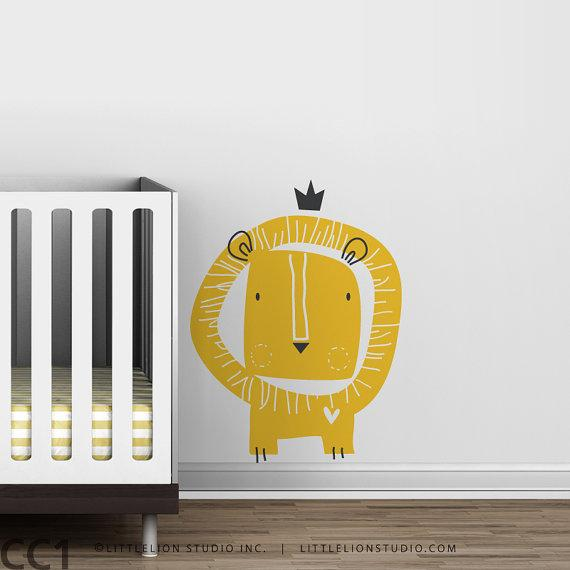 Kids wall decal lion king crown by LeoLittleLion on Etsy