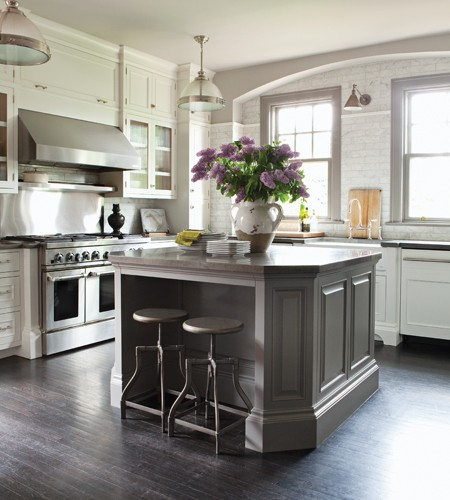 grey kitchen island gray kitchen island transitional kitchen nam dang mitchell design 4229