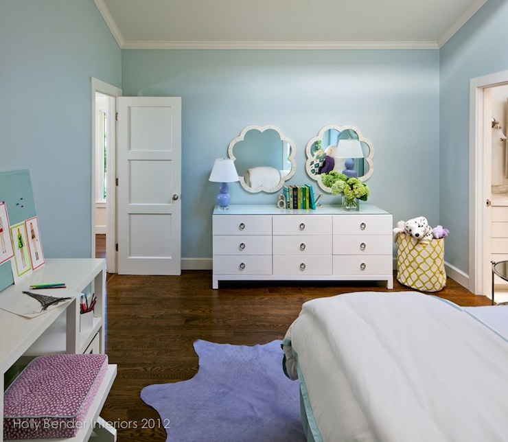 Blue And Purple Bedroom Accents Design Ideas