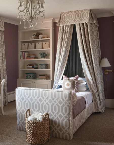 Gray And Purple Girl 39 S Room Traditional Girl 39 S Room