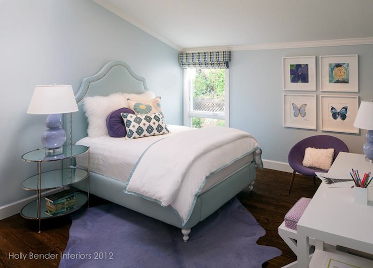 Blue and purple girl 39 s room contemporary girl 39 s room for Blue purple bedroom ideas