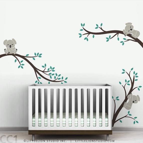 Kids Wall Decal Nursery Tree By LeoLittleLion On Etsy