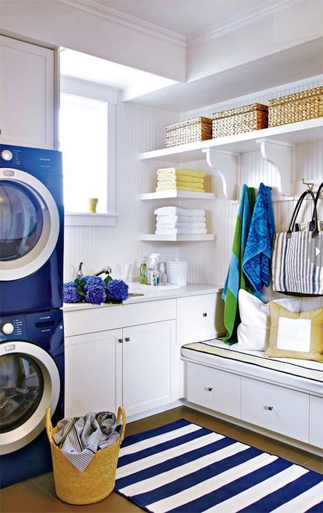 Fun Laundry Room Wallpaper