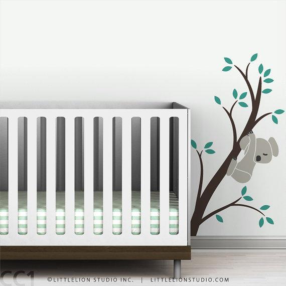 Baby Wall Decal Koala Bear Baby By Leolittlelion On Etsy