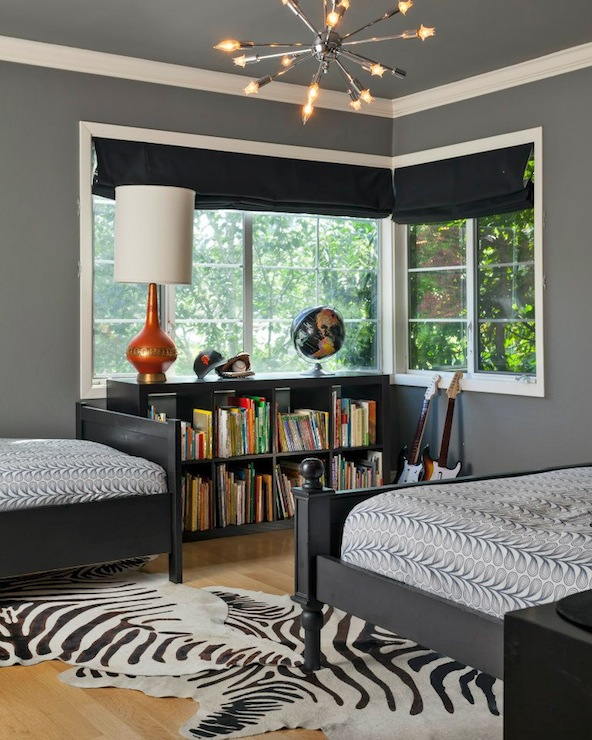 Contemporary Bedroom Lighting Bedroom Interior For Couples Black And White Tiles In Bedroom Bedroom Furniture Black: Benjamin Moore Chelsea Gray
