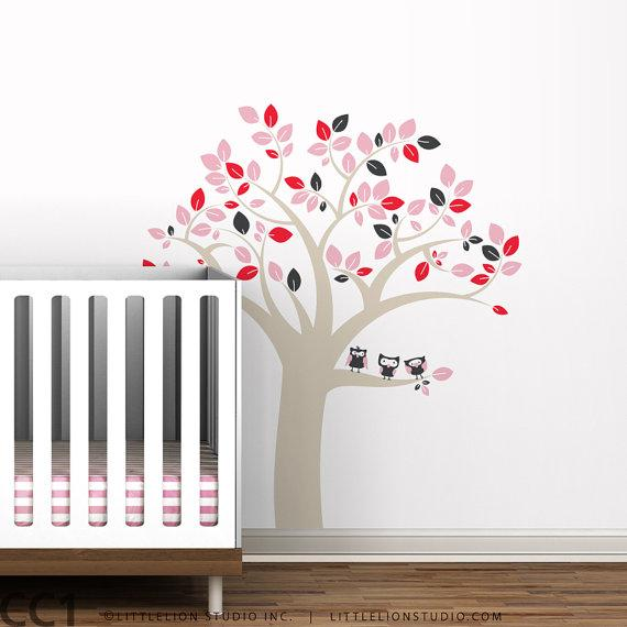 sc 1 st  Decorpad & Kids owl tree decal wall decal tree by LeoLittleLion on Etsy