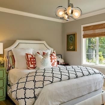 Dorothy Draper Chest, Contemporary, bedroom, Benjamin Moore Stone Hearth, Holly Bender Interiors