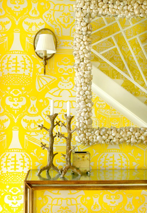 The Vase Wallpaper By David Hicks Cottage Entrancefoyer Meg