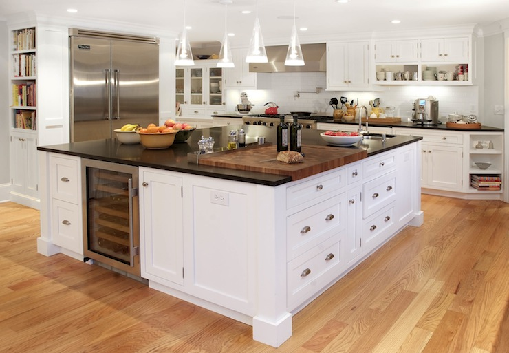 Built In Kitchen Island Wine Fridge - Transitional - kitchen ...