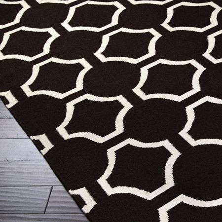 black and white geometric rug. jill rosenwald studio - links : black and white geometric rug c