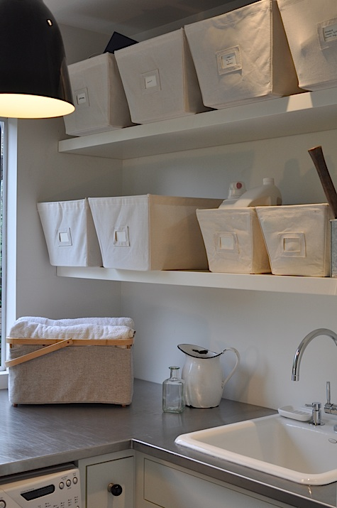 Laundry Shelves Modern Laundry Room Remodelista Inspiration Container Store Floating Shelves