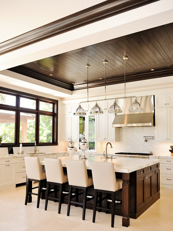 Beadboard Ceiling Contemporary Kitchen Tuthill