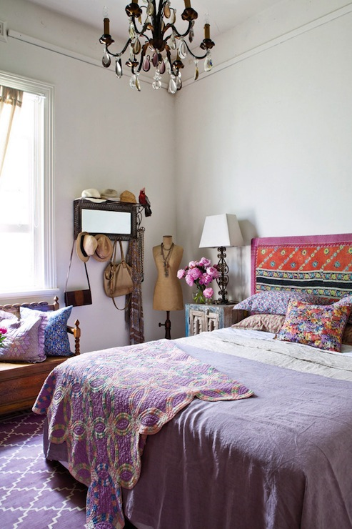 Bohemian bedroom eclectic bedroom for Purple bedroom ideas tumblr
