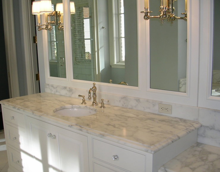 Beveled marble countertops traditional bathroom for Bathroom countertops