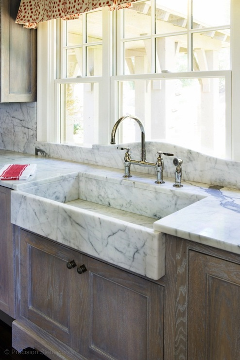 Farmhouse Kitchen Valance Above Sink