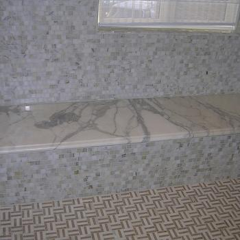 Marble Shower Bench, Modern, bathroom, Precision Stoneworks