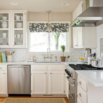 L Shaped Kitchen, Transitional, kitchen, Benjamin Moore Water Chestnut, Marianne Simon Design