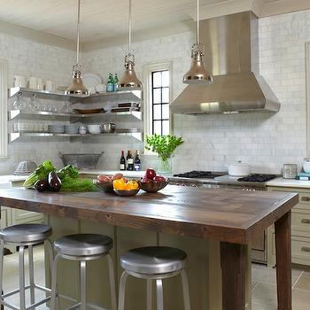 Crate & Barrel Spin Counter Stools, Eclectic, kitchen, Christopher Architects