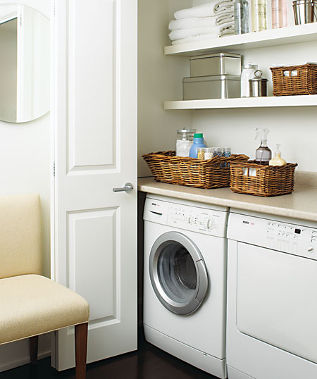 Hidden laundry room