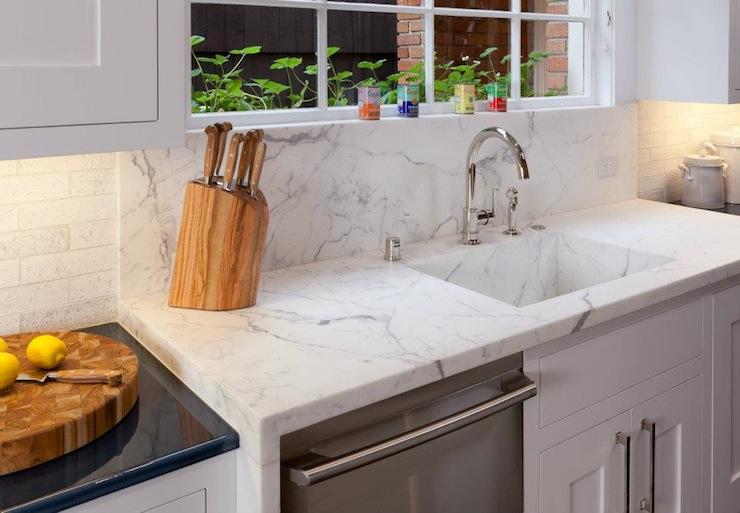 Calcutta Marble Contemporary Kitchen Tish Key