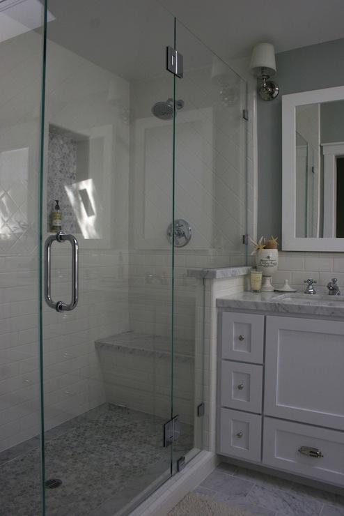 Carrara Marble Contemporary Bathroom Murphy Amp Co Design
