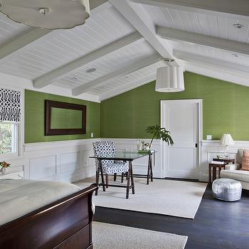 Office in Bedroom, Transitional, bedroom, Fiorella Design