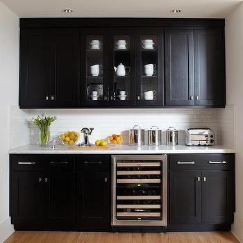 Butler's Pantry Cabinets, Contemporary, kitchen, Benjamin Moore Super White, Urrutia Design