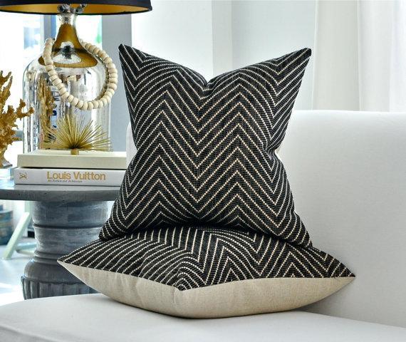 custom ebony kelly pillow flair in drapes noir wearstler ivory pillows katana