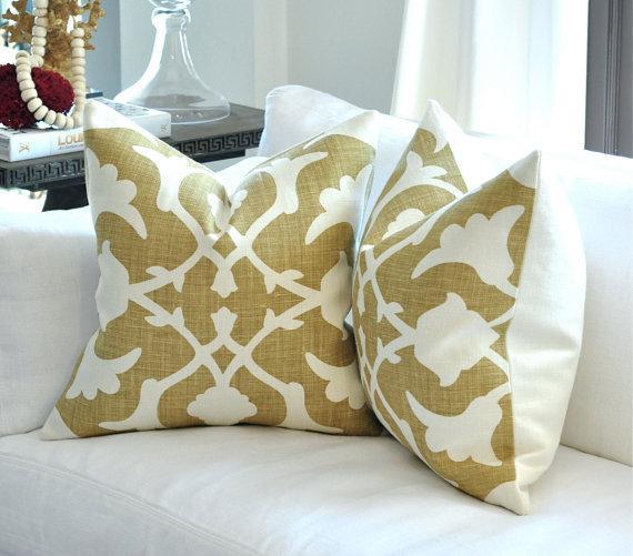 Barbara Barry Poetical Linen Pillow Grey 22 sq by woodyliana