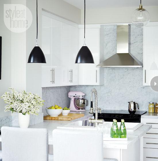 White Lacquer Kitchen Cabinets - Contemporary - kitchen ...