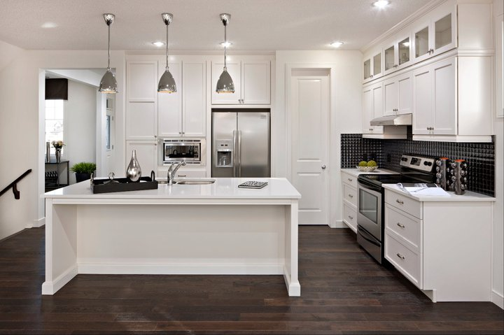 White kitchen cabinets modern kitchen cardel designs for White kitchen cabinets with hardwood floors
